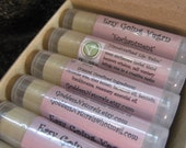 "12 ""Enchantment"" (Easy Going Vegan) Lip Balms (comes w/display box)  0.15 oz tubes"