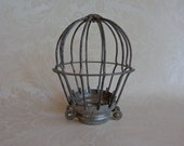 Vintage Small Metal Wire Cage for Trouble Light Drop Light Cage Only Repurpose