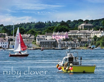 Portaferry, County Down, Northern Ireland, Strandhill, Sailboat Photo, Yellow Boat, UK Village, Jaws Boat, Red Boat, Pink House, Quaint Town