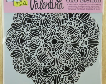 SWEET POSEY Mandala  6 x 6 Mixed Media Stencil  by Valentina   ENL037