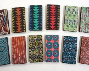 Urban Tribal Wood Craft Parts  - Collection of 12 Patterned Rectangles