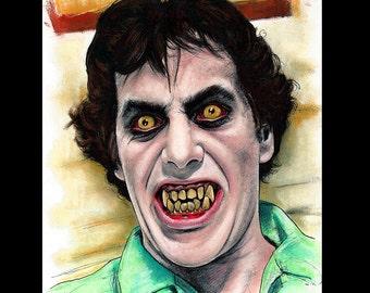 "Print 8x10"" - American Werewolf in London - David Naughton Wolf John Landis Horror Lowbrow Pop Art Halloween Comdey 80s Dark Art Gothic"
