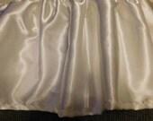 Handmade Ivory Satin Ruffled Crib Skirt