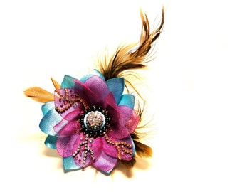 Fantasy bracelet with feather details, Braock Collection