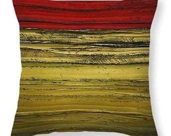 Designer Art Accent Throw Pillow -abstract trd brown gold, interior design, modern home decor from Susanna's art