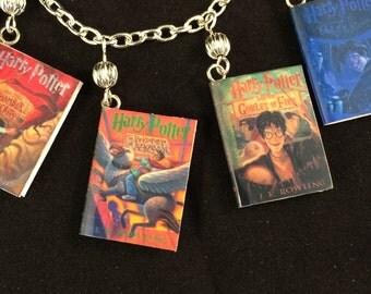 Miniature Harry Potter books full series bracelet