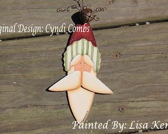 Santa with tall hat Ornament  Cyndi Combs design