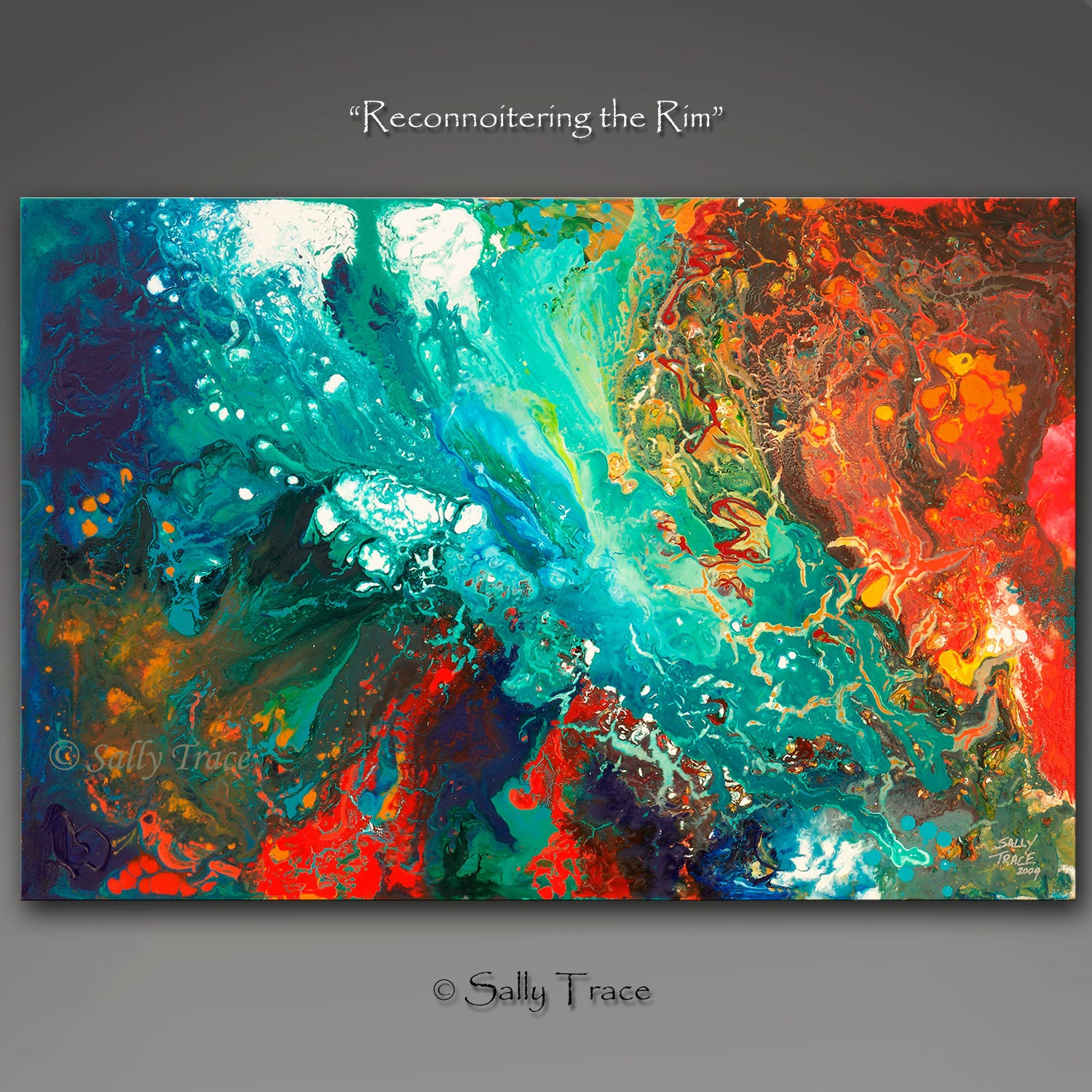 Abstract giclee print from my original abstract acrylic for Custom acrylic paint