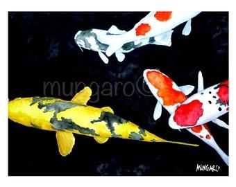 Koi no. 3 watercolor print by Marley Ungaro