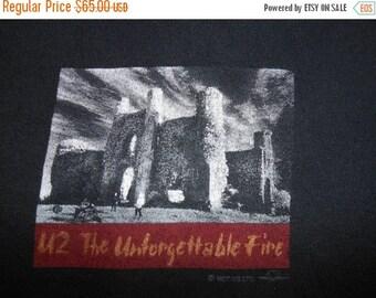 Vintage U2 1980s 80s Tour T-Shirt - The Unforgettable Fire