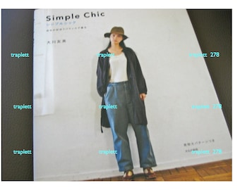 Japanese  Craft Pattern Book Sewing Women's Clothing Simple Chic