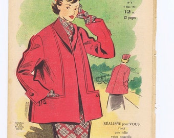 Fashion magazine.Fabulous images.Vintage.Paris.French.Style.Mode.Vogue.Chic.Scrapbooking.collage.patterns.dresses.spring.coat.birthday gift
