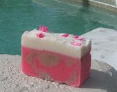 Cherry Vanilla Soap  Cold Process  Large Vegan  5 oz    buy any 3-6 bars 5.50 Shipping