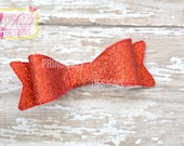 Red Glitter Bow - 3D Bow - Girls Bow - Toddler Bows