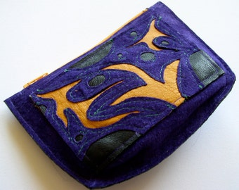 Wallet Pouch in violet suede