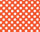 CLEARANCE .75 Yard Michael Miller Ta Dot in Tangerine Orange