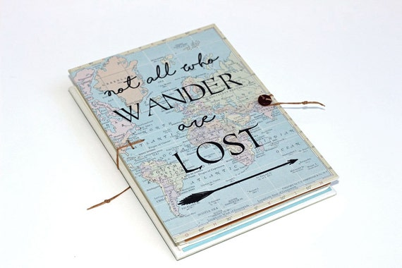 Not all who wander are lost travel journal with world map sciox Images