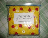 """DIY I Spy Matching Pairs Game Quilt Kit-- 80 pieces of 5"""" squares- GIRLS Collection"""