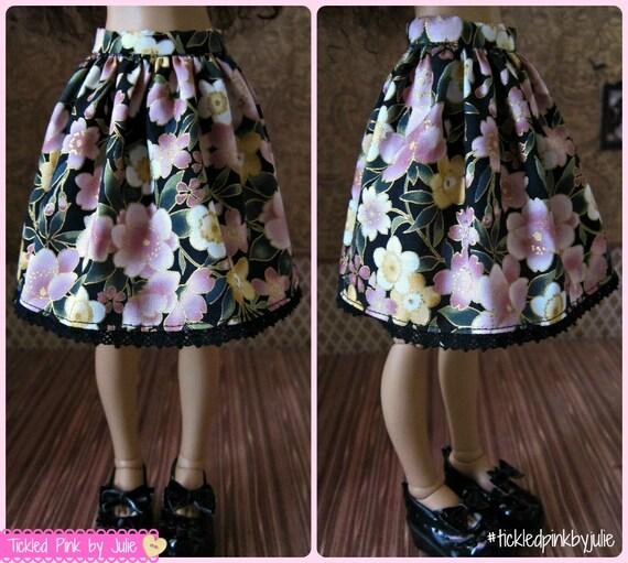 MiniFee Slim MSD Sakura Skirt by Tickled Pink by Julie