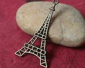 Antique brass Eiffel Tower size 42x24mm, 8 pcs (item ID YDEF)