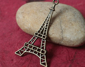 Antique brass Eiffel Tower size 42x24mm, 8 pcs (item ID YDEF)