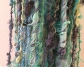 Take Me To The River 2 art yarn 14 yards mohair wool yarn colorful curly textured colorful girlwithasword dreads me