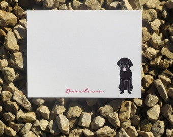 Black Lab Personalized Notes - Gift Giving - Personalized Notes - Notepads and Notecards
