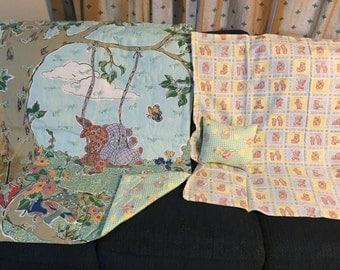 Retro cartoon flannel quilt