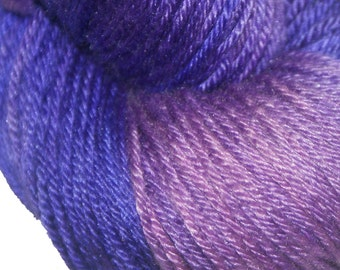LUPINE in Hand Dyed Poet Seat Fingering Weight Superwash Merino and Silk Yarn