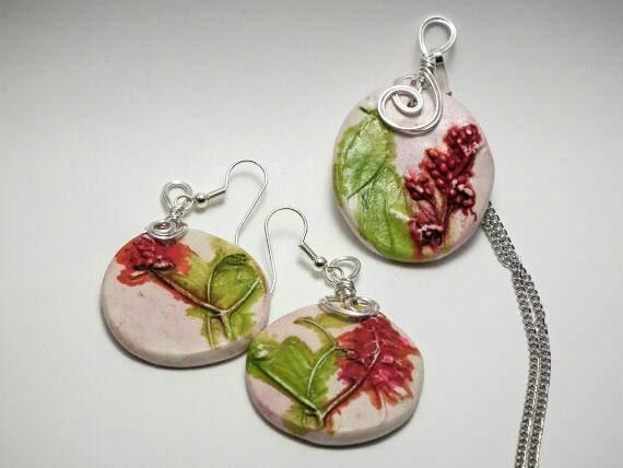 Botanical Pendant and earring set (Cape Breton Foliage) CBF001
