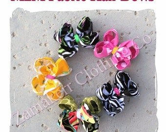 MADE TO MATCH Girl Fabric Hair Bow (1)