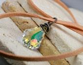 Swarovski Pendant - Crystal Pendant - Wire Wrapped Pendant - Luxury Pendant - Oxidized Pendant