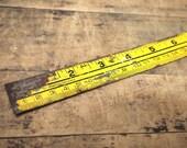 Free Shipping Powermaster Vintage Metal Yard Stick Ruler Made in Korea