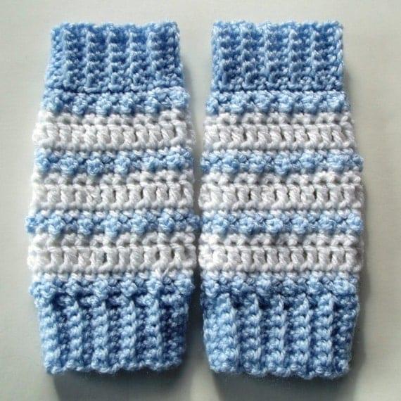 Baby Striped Leg Warmers Crochet Pattern