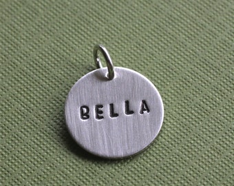 Hand Stamped Name Charm