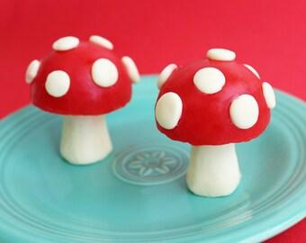 Mushroom Soap - Toadstool Soap, Super Mario Soap, Geek Soap, Gamer Soap, Shroom Soap, Woodland Soap, Gnome Soap, Kids Soap, Soap Favors
