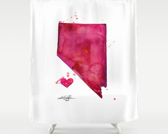 Nevada ... Shower Curtain from Original abstract State watercolor art painting by Kathy Morton Stanion  EBSQ