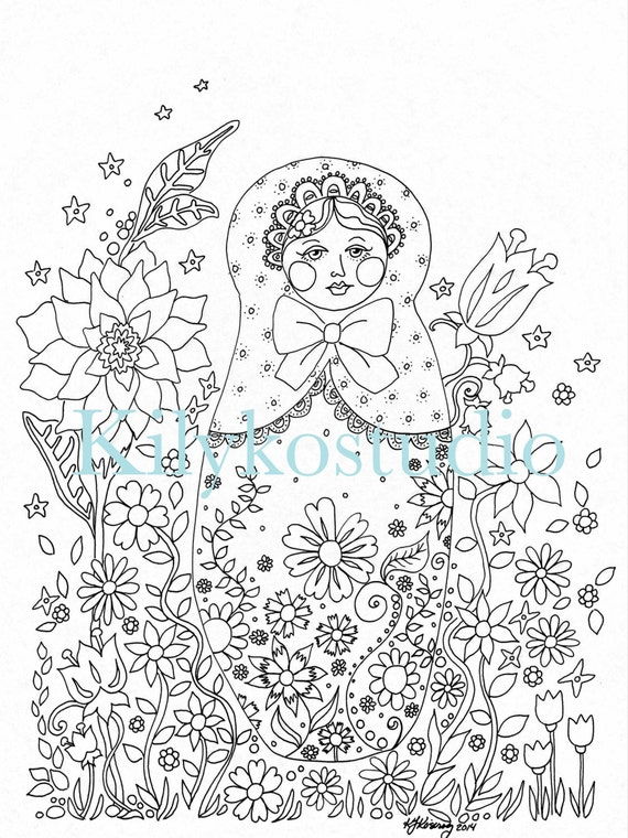 babushka coloring pages - photo#27