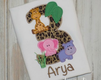 Jungle birthday shirt, Safari Birthday shirt, Zoo Birthday shirt, Jungle Animal shirt, Zoo animal shirt, sew cute creations