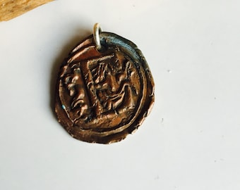 Wax Seal Stamp, E Initial, Monogrammed Pendant, Wax Seal Pendant, E Pendant, Copper Clay, PMC Clay, Etsy, Etsy Jewelry