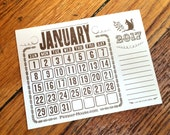 One Mini 2017 Calendar Pad - Replacement or make your own
