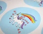 JUMBO sticker: cupcake riding unicorn