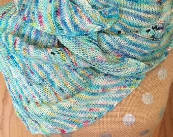 Large Wool/Silk Asymmetric Shawl Scarf