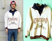 sale - COOL COLORADO DUDE // Coloradical Sweater // Denver / Boulder / Fort Collins / 1990s Turtleneck // Ski bum // Men's Medium Sweater