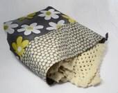 Large Knitting Bag, Chunky Knitting, Knitting Project Bag, Flower Knitting Bag, Crochet Bag