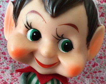 Vintage Big Head Knee Hugger Elf.. Adorable  and Rare!!.. I'm thinking He'd be a cute bo for Blythe dolls too!!.. How bout you?