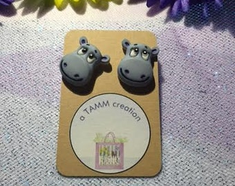 Acrylic Hippo Earrings