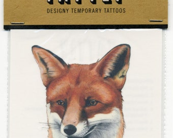 Fox Temporary Tattoos - Stocking Stuffer - Fox tattoo - Tattly - Animal Portraits - Animals in Suits - Ryan Berkley Illustration
