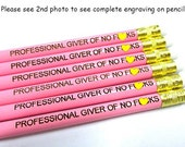 Laser Engraved Pencils - Set of Six - Professional Giver of No F*cks