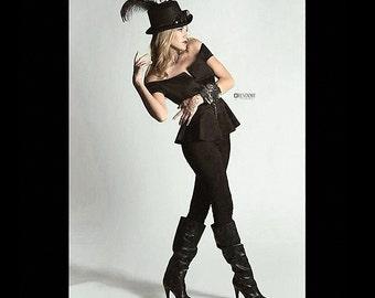 Steampunk Textile Cuff Womens Black FEATHERY LACE Jailers Padlock Skull Bones Keys Glam ROCKERs Punk Cuff - Steampunk Clothing by edmdesigns